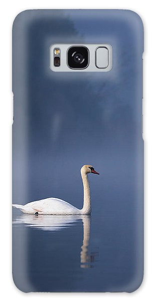 Galaxy Case featuring the photograph Misty River Swan 2 by Davor Zerjav