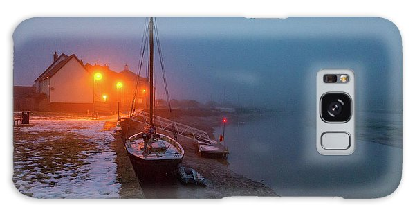 Galaxy Case featuring the photograph Misty Rowhedge Winter Dusk by Gary Eason