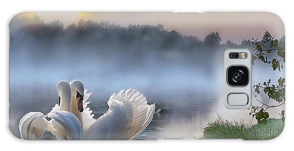 Misty Swan Lake Galaxy Case