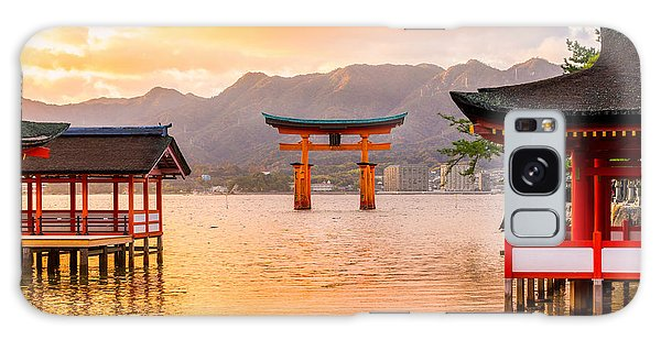 Tide Galaxy Case - Miyajima, The  Famous Floating Torii by Luciano Mortula - Lgm