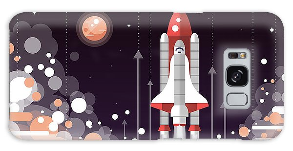 Spaceship Galaxy Case - Modern Vectorflat Design Illustration by Boyko.pictures
