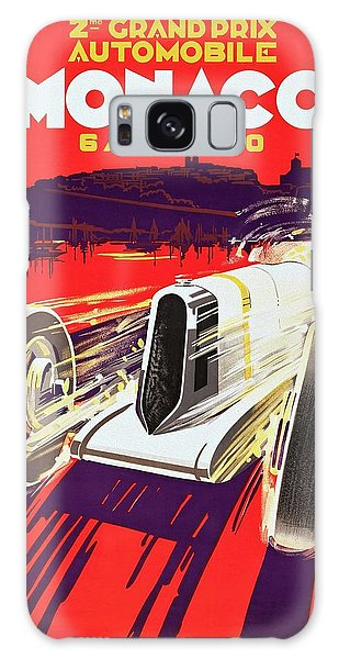 Monaco Grand Prix 1930, Vintage Racing Poster Galaxy Case