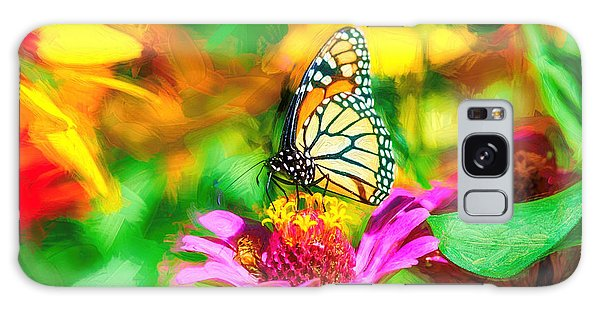 Monarch Butterfly Impasto Colorful Galaxy Case