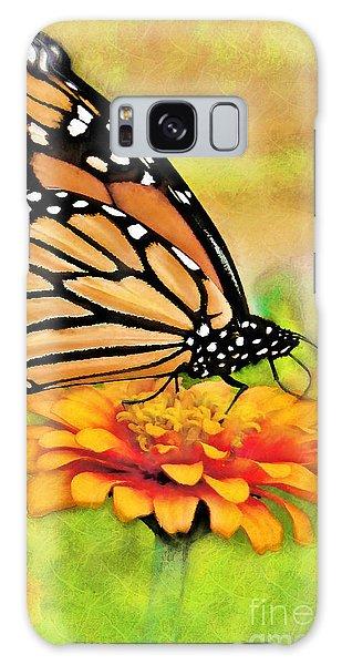 Monarch Butterfly On Flower Galaxy Case