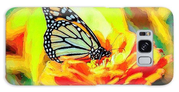 Monarch Butterfly Van Gogh Style Galaxy Case