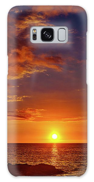 Monday Sunset Galaxy Case