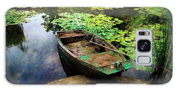 Monet's Gardeners Boat Galaxy Case