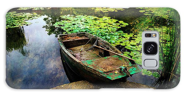 Monet's Gardeners Boat Galaxy Case