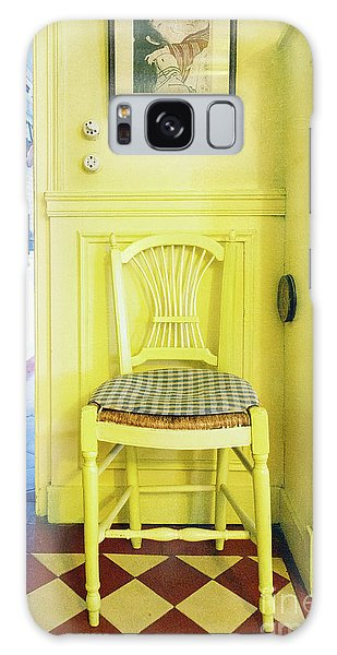 Monet's Kitchen Yellow Chair Galaxy Case
