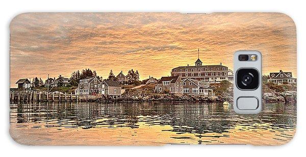 Monhegan Sunrise - Harbor View Galaxy Case