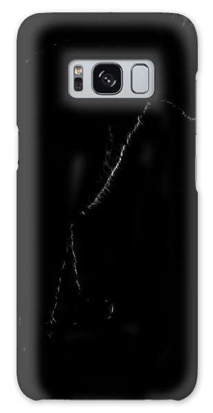 Monochrome Leopard Outline Galaxy Case