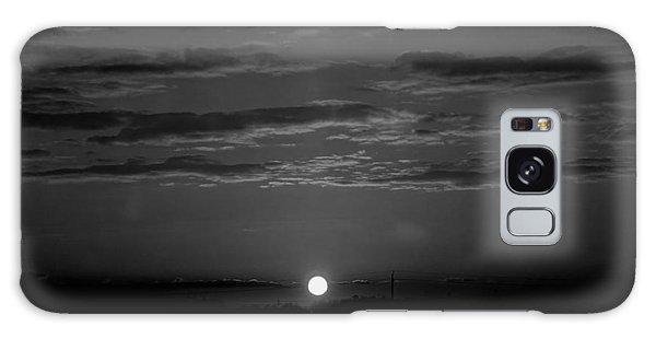 Monochrome Sunrise Galaxy Case