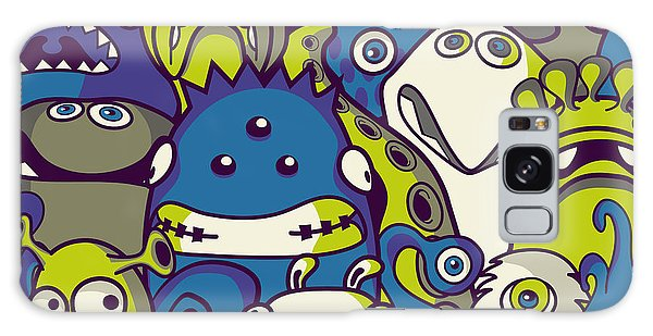 Outer Space Galaxy Case - Monsters And Aliens- Seamless Background by Trendywest