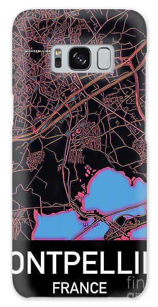 Montpellier City Map Galaxy Case