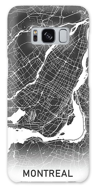 Quebec City Galaxy Case - Montreal Map Black And White by Delphimages Photo Creations