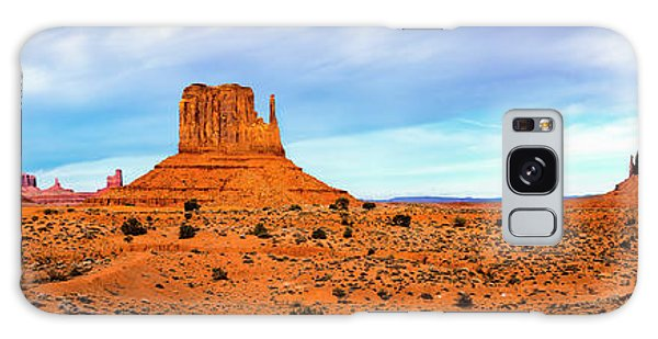 Galaxy Case featuring the photograph Monument Valley by David Morefield
