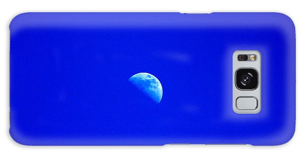 Moon In A Daytime Sky Galaxy Case