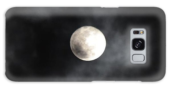 Moon In The Still Of The Night Galaxy Case