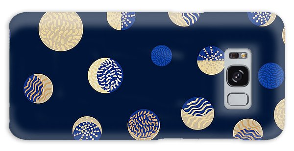 1950s Galaxy Case - Moon Phases. Crescent Growth. Abstract by Svetlana Kononova