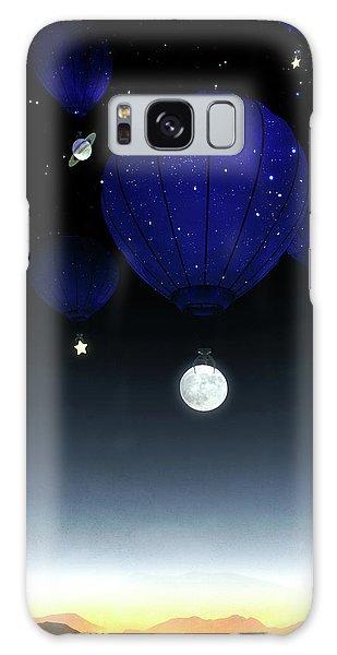 Hot Air Balloons Galaxy Case - Moonrise by Cynthia Decker