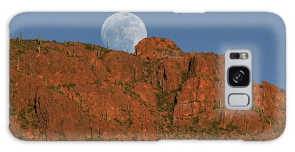 Moonrise Over The Tucson Mountains Galaxy Case