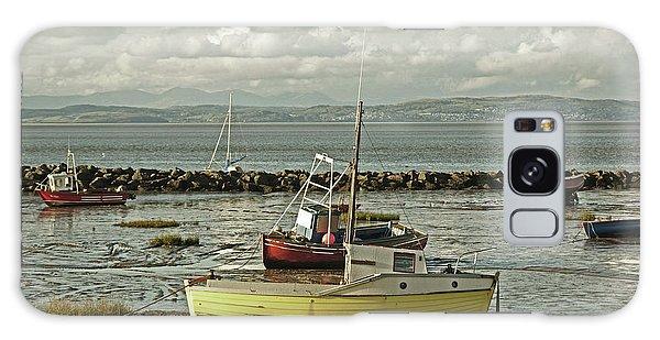 Morecambe. Boats On The Shore. Galaxy Case
