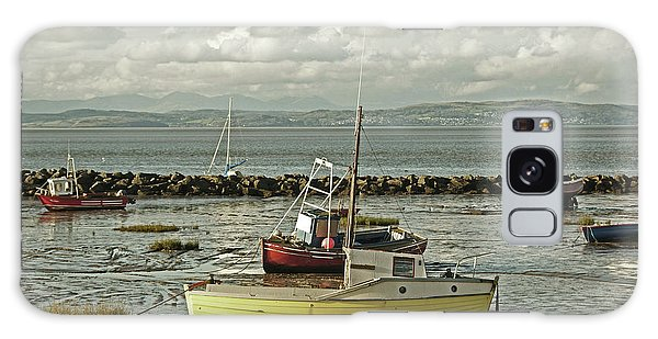 Morecambe. Boats On The Shore. Galaxy Case