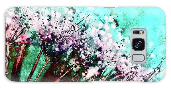 Morning Dew On Dandelions Galaxy Case