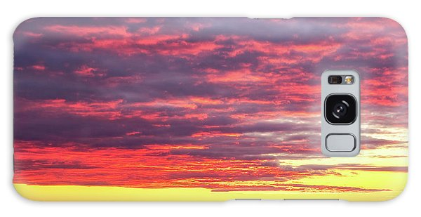 Morning Fire Over Whaleback Light Galaxy Case