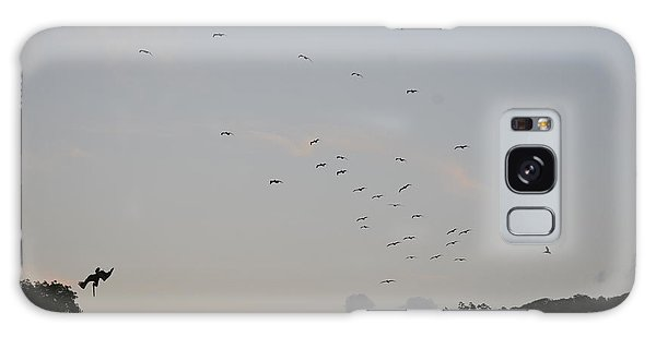 Morning Flock Rise Galaxy Case