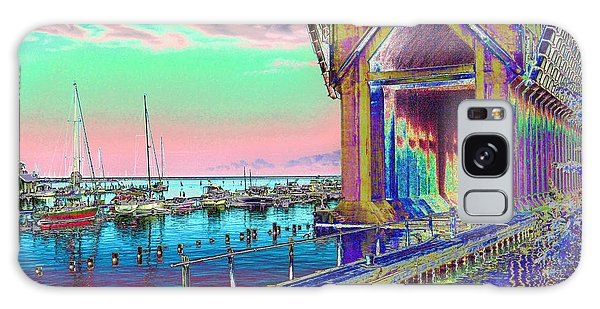 Morning Pink Marquette Ore Dock Galaxy Case