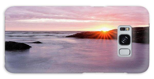 Morning Sun Good Harbor Galaxy Case