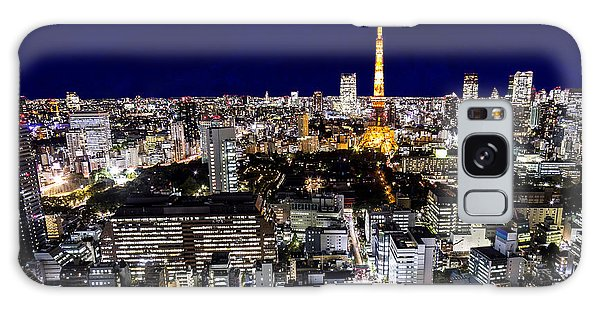 Dusk Galaxy Case - Mount Fuji And Tokyo City In Twilight by 10 Face