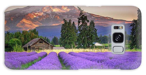 Mount Hood Lavender Field  Galaxy Case