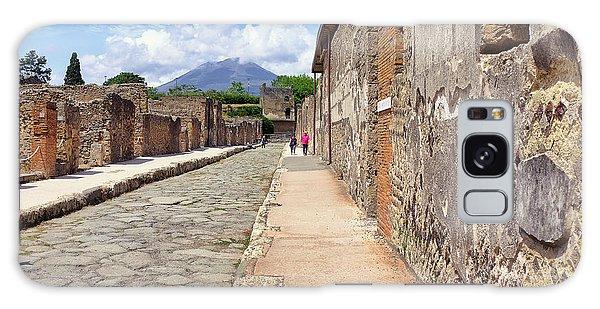 Mount Vesuvius And The Ruins Of Pompeii Italy Galaxy Case