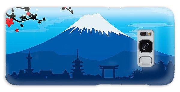 Buddhism Galaxy Case - Mountain Fuji Japan Sakura View by Ienjoyeverytime