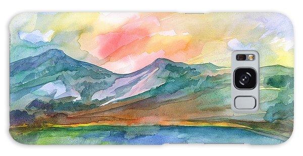 Mountain Lake Galaxy Case