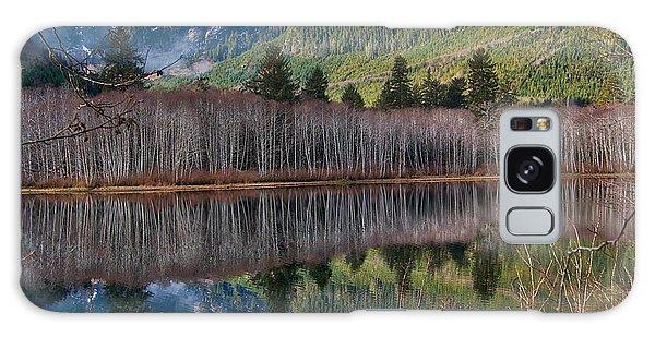 Mountain Lake Reflections Galaxy Case