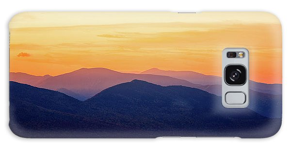 Mountain Light And Silhouette  Galaxy Case