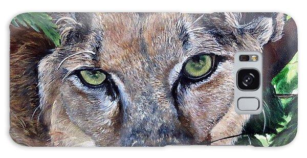 Mountain Lion Portrait Galaxy Case