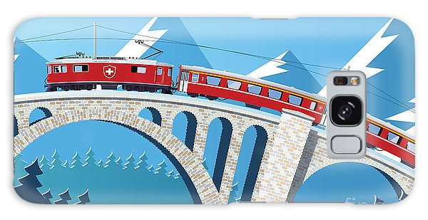 Metal Galaxy Case - Mountain Train On The Bridge Through by Nikola Knezevic