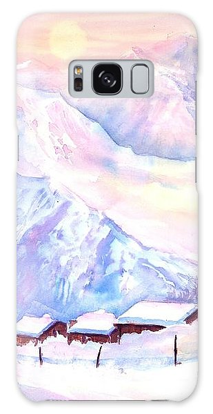 Mountain View Winter Landscape Galaxy Case