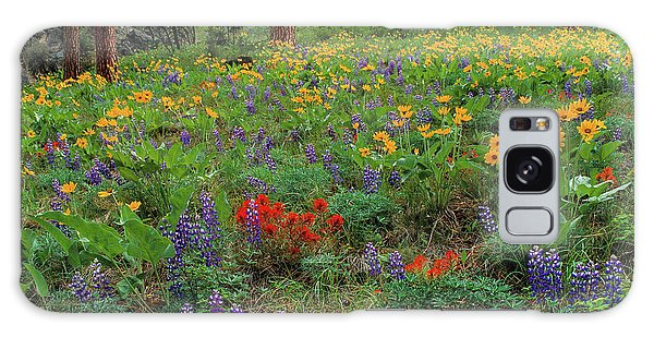 Mountain Wildflowers Galaxy Case