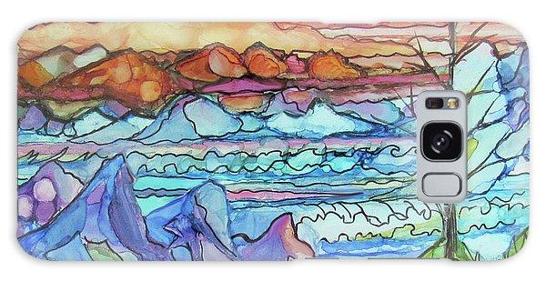 Mountains And Sea Galaxy Case