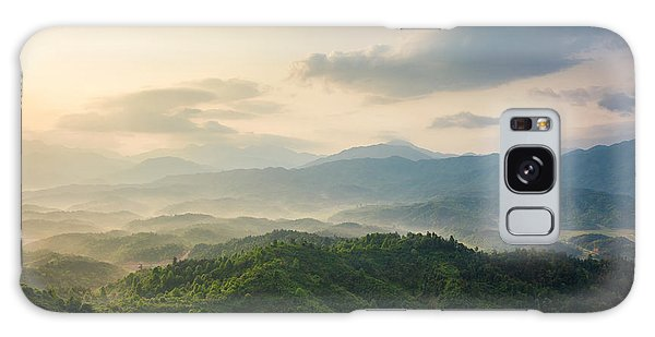 Cloudscape Galaxy Case - Mountains Under Mist In The Morning In by Humannet