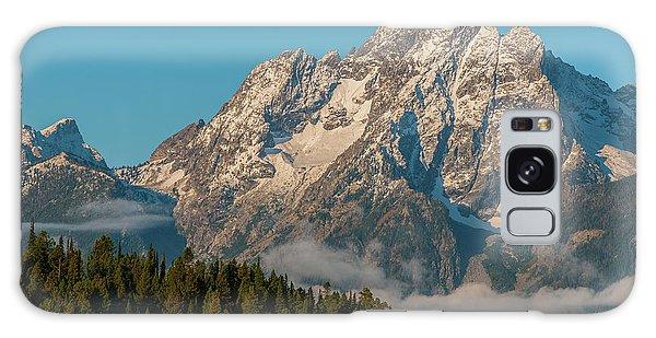 Mt Moran Dressed In Clouds Galaxy Case