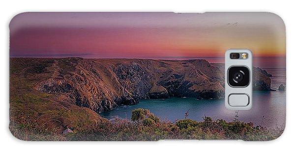 Mullion Cove Cornwall Sunset Galaxy Case