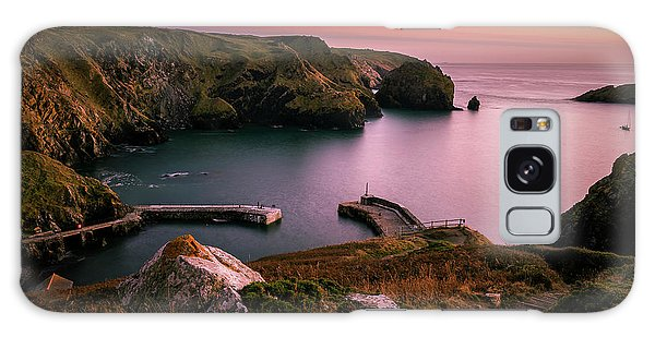 Mullion Cove Sunset - Cornwall General View Galaxy Case