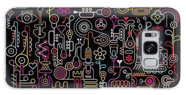 Horizontal Galaxy Case - Music Shop Abstract Art Vector by Danjazzia
