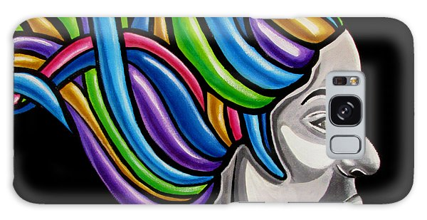 Colorful Abstract Black Woman Face Hair Painting Artwork - African Goddess Galaxy Case